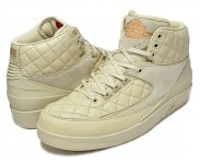 "NIKE AIR JORDAN 2 RETRO JUST DON ""BEACH"" beach/m.gold-u.red【正規品】【送料無料】"