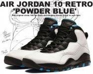 "NIKE AIR JORDAN 10 RETRO ""Powder Blue"" wht/d.powder ble-blk【正規品】【送料無料】"