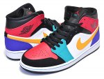 NIKE AIR JORDAN 1 MID WHAT THE NBA white/university red-black スニーカー AJ1 MID日本正規品 【交換送料無料】