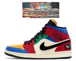 NIKE AIR JORDAN 1 MID SE FEARLESS BLUE THE GREAT muslin/black-varsity red-royal cu2805-100 スニーカー AJ1 BTG日本正規品 【交換送料無料】