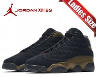 NIKE AIR JORDAN 13 RETRO BG black/gym red-light olive 884129-006 スニーカー AJXIII OLIVE オリーブ日本正規品 【交換送料無料】