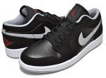 NIKE AIR JORDAN 1 LOW blk/g.red-w.gry-wht日本正規品 【交換送料無料】