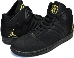 NIKE JORDAN 1 FLIGHT 4 PREM blk/metallic gold-blk日本正規品 【交換送料無料】