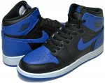 "NIKE AIR JORDAN 1 RETRO HIGH OG BG ""ROYAL""blk/royal日本正規品 【交換送料無料】"