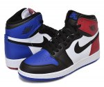 "NIKE AIR JORDAN 1 RETRO HIGH OG BG ""TOP3"" blk/blk-wht【正規品】【送料無料】"