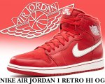 NIKE AIR JORDAN 1 RETRO HI OG g.red/sail【正規品】【送料無料】