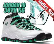NIKE AIR JORDAN 10 RETRO 30TH GG wht/verde-blk-infrared 23日本正規品 【交換送料無料】