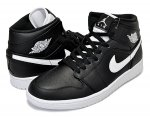 NIKE AIR JORDAN 1 MID black/white-black日本正規品 【交換送料無料】