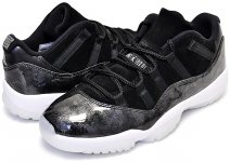"NIKE AIR JORDAN 11 RETRO LOW ""BARON"" blk/wht-metaslver【正規品】【送料無料】"