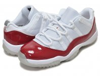 "NIKE AIR JORDAN 11 RETRO LOW ""CHERRY"" wht/v.red-blk日本正規品 【交換送料無料】"