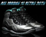 NIKE AIR JORDAN 10 RETRO 30TH dust/metallic gld-blk-retro日本正規品 【交換送料無料】