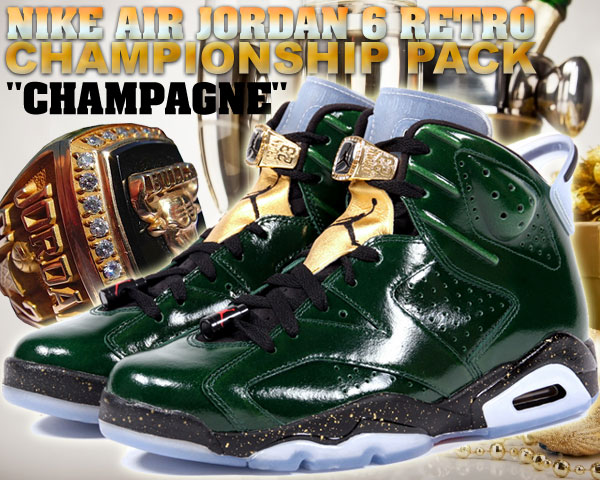 "NIKE AIR JORDAN 6 RETRO CHAMPIONSHIP PACK ""CHAMPAGNE"" p.grn/m.gold-chllng rd【正規品】【送料無料】 - ウインドウを閉じる"